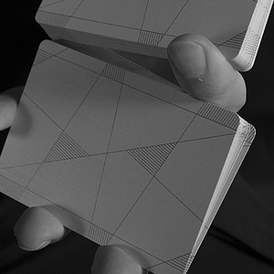 Between the Lines Playing Cards by Riffle Shuffle