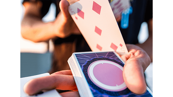 orbit v7 playing cards in movement