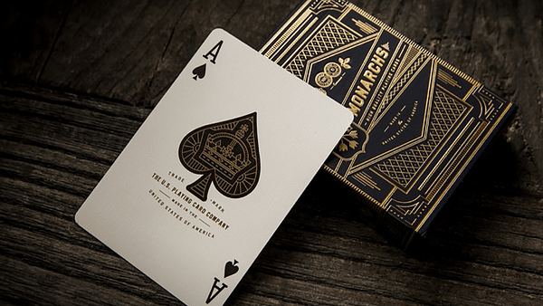 Monarchs Playing Cards Ace of Spades